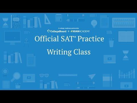 Khan Academy Live: SAT Writing Class - YouTube