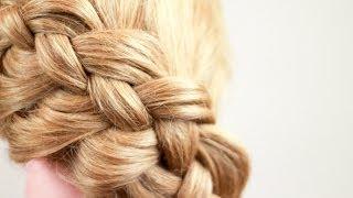 Смотреть онлайн Диагональная коса из четырех прядей