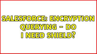 Salesforce: Encryption querying - Do I need Shield?
