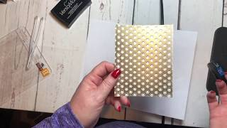 Heat Embossing With An Embossing Folder
