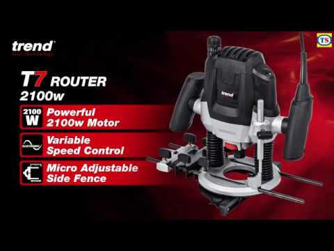 "Trend T7 1/2"" 2100W Variable Speed Router"
