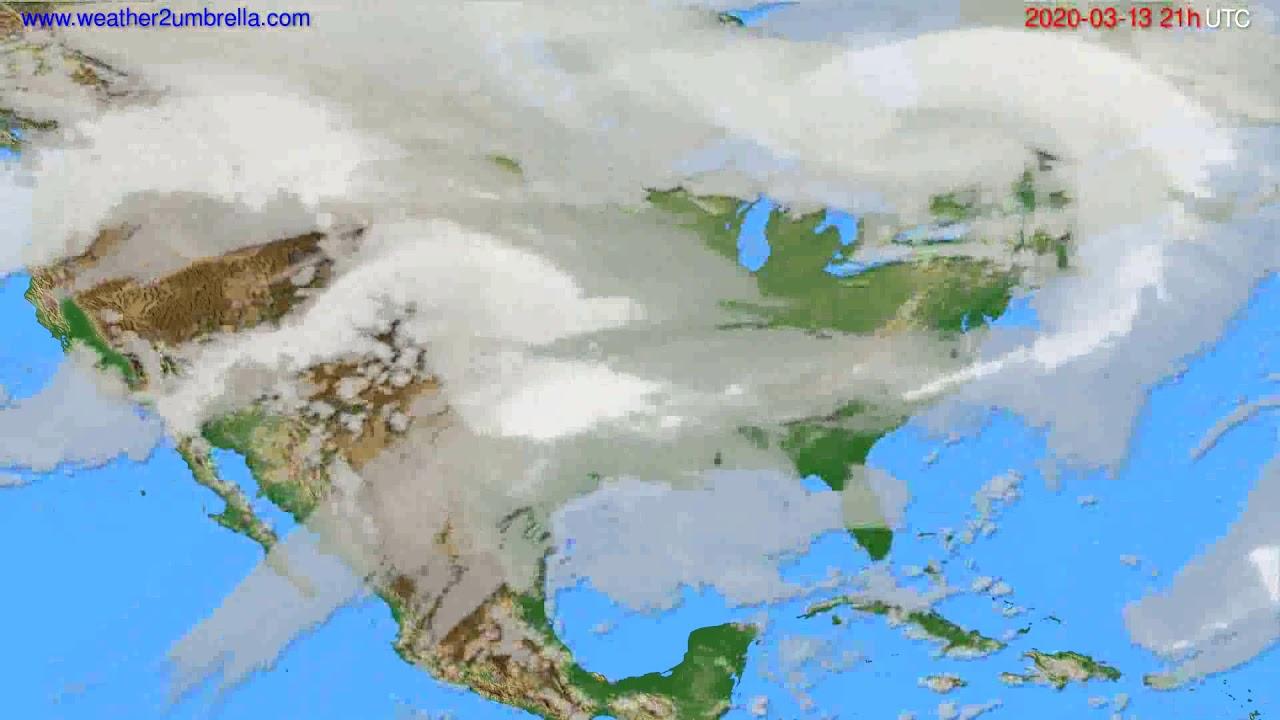 Cloud forecast USA & Canada // modelrun: 12h UTC 2020-03-12