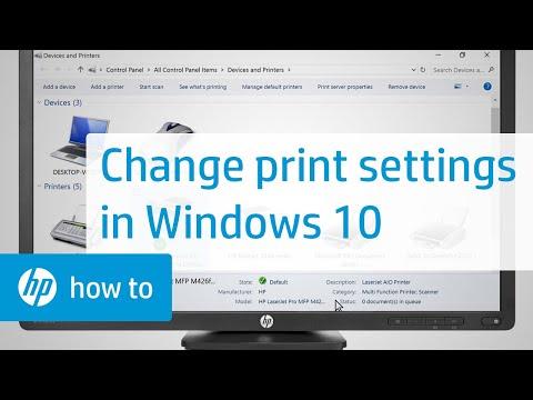 Changing Print Settings in Windows 10 | HP Printers | HP