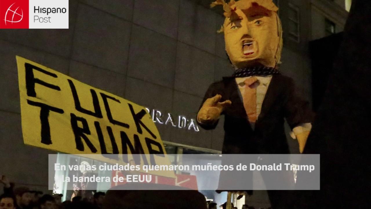 Protestas en contra de Trump dejaron más de 30 detenidos