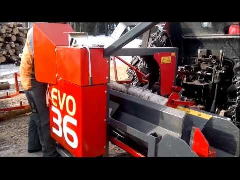 Agromaster Pilkemaster vedmaskin EVO 36 TR - film på YouTube