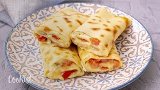 Crepe Omelette Roll: The Perfect Recipe For A Tasty Breakfast!