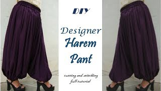 DIY /How To Make Harem Pant Cutting And Stitching Full Tutorial
