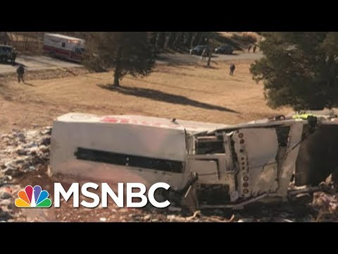 Amtrak Train Carrying Republican Lawmakers To A Retreat Hits Garbage Truck | Velshi & Ruhle | MSNBC