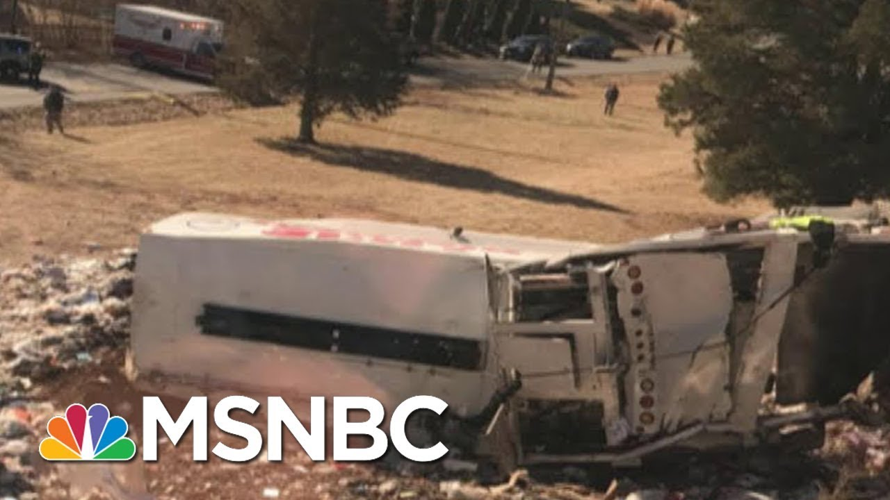 Amtrak Train Carrying Republican Lawmakers To A Retreat Hits Garbage Truck | Velshi & Ruhle | MSNBC thumbnail