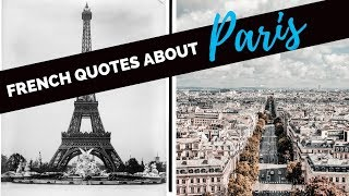 French Quotes About Paris 🇫🇷 With English Translation