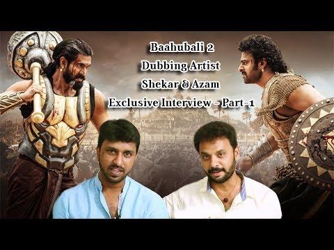 Dubbed For Prabhas & Rana In Baahub ..