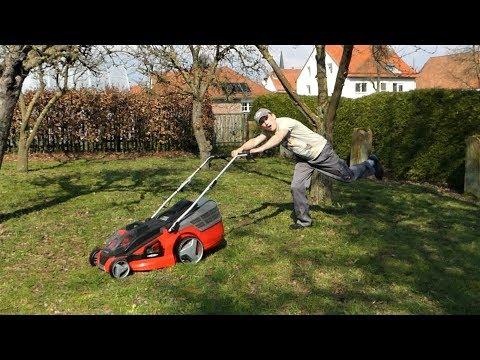 Der Einhell Akku-Rasenmäher GE-CM 43 Li M im Härtetest / Wie lange halten die Akkus?