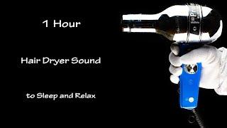 Hair dryer Sound 80 | 1 Hour Visual ASMR | White Noise to Sleep