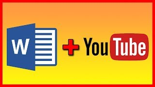 How to Link / Embed a YouTube video into a Word 2016 document