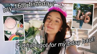 MY 16TH BIRTHDAY VLOG! + What I Got For My Birthday Haul!