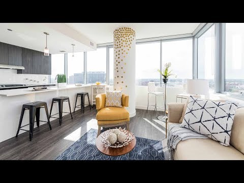 A corner 1-bedroom model at the new Eight Eleven Uptown