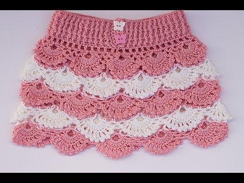 7ca8e3f70 Falda a crochet para niña paso a paso con patrones dentro - Crochet ...