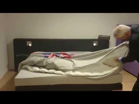 Hoe doe je een dekbed in een dekbedovertrek!