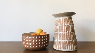 Carving Patterns And Designs Into Clay