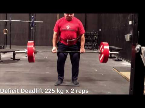 Deficit Deadlift up to 235 kg for double - 2016-11-24