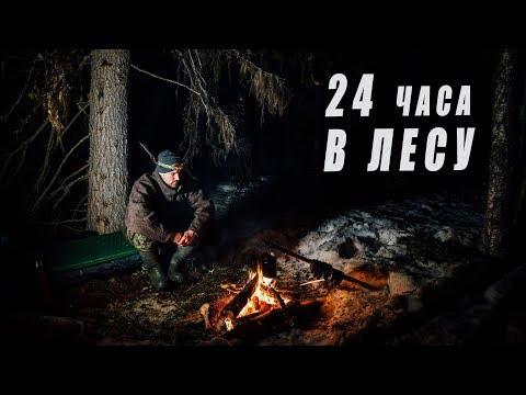 24 ЧАСА В ЛЕСУ. НОЧЬ ПОД ЁЛКОЙ У КОСТРА. ГЛУХАРИ. Добрые походы.