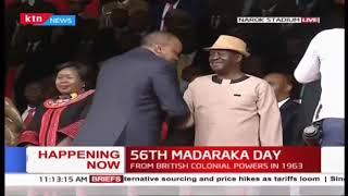President Uhuru arrival at the dias during #MadarakaDay2019