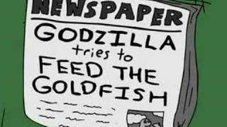 Godzilla Tries to Feed the Goldfish
