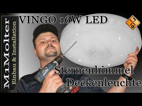 VINGO 16W LED Sternenhimmel Deckenleuchte - Anschluss und Installation