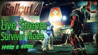 Fallout 4 Live Stream Survival Mode, 1440p 60fps Part 60: Ten Days Till Fallout 76 BETA!