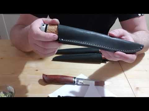 Empfehlung JARS- Messer Leopard und Forelle für Angler  Fischer Bulat Wootz 440C Stahl Messer