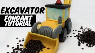 EXCAVATOR | FONDANT TUTORIAL | Cake Topper