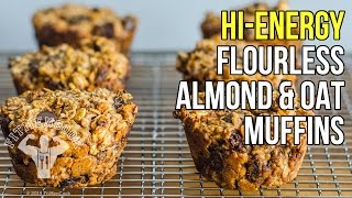 Flourless Oat & Almond Butter Muffins with Goji & Dark Chocolate / Muffins Sin Harina