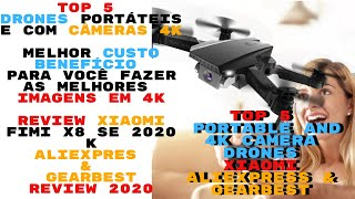 ▶️Top 5 Drones 4K Baratos do Aliexpress Xiaomi FIMI X8SE 2020 K | Top 5 Drones 4K Aliexpress 2020 ▶️