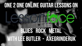 Online Guitar Lessons - Learn Guitar With Me On Lesson Face