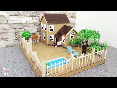 Building Cardboard Dream House With Fairy Garden And Pool Easy