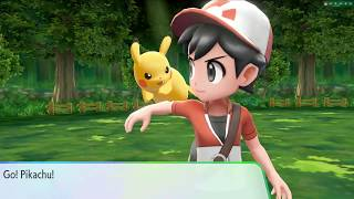 Pokémon Let's Go Pikachu & Let's Go Eevee Viridian Forest footage