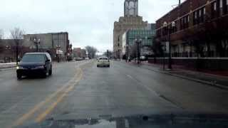 preview picture of video 'Saginaw, MI Downtown 2012 - Washington from Dow Event Center to St. Mary's.'