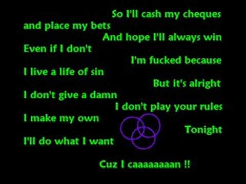 Pink - Cuz I Can [Lyrics]