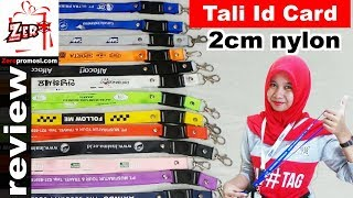 Review Tali ID Card 2cm bahan nylon