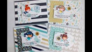 1 Set 4 Ways Series   Episode 7   MFT Flower Fairies   Handmade Cards