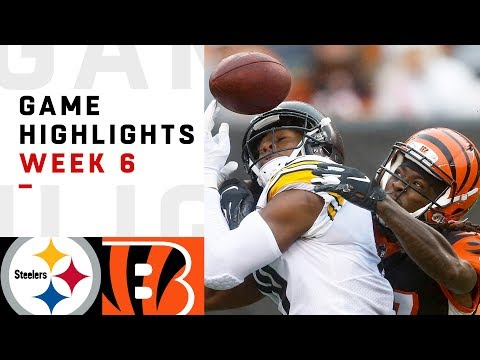 Steelers vs. Bengals Week 6 Highlights | NFL 2018