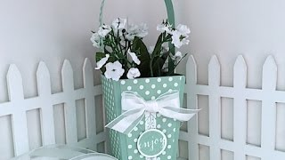 Simply Simple PANELED POPCORN BASKET By Connie Stewart