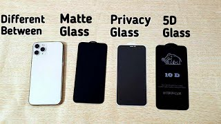 Iphone 11 Pro Max Privacy Glass, Matte & 10 D Screen Protector Difference | How to apply