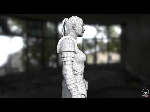 Female Gladiator - Realtime render - 25.000 tris