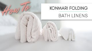 Marie Kondo KonMari Folding | Bath Linens - Towels