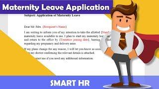Best Maternity Leave Application Sample Email | #maternityleave | Smart HR