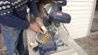"How To Use A 10"" Inch Chop Saw Miter Saw - Be Safe"