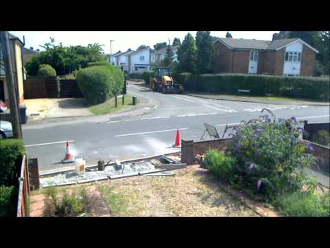 Timelapse of dropped kerb installation