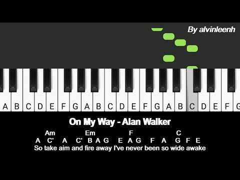 Alan Walker - On My Way (Piano Cover) | LUCCA TUBE