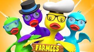 ห้าเป็ดบิ๊ก | เพลงเป็ดสำหรับเด็ก | เพลง เด็ก อนุบาล | Five Big Ducks | Farmees Thailand